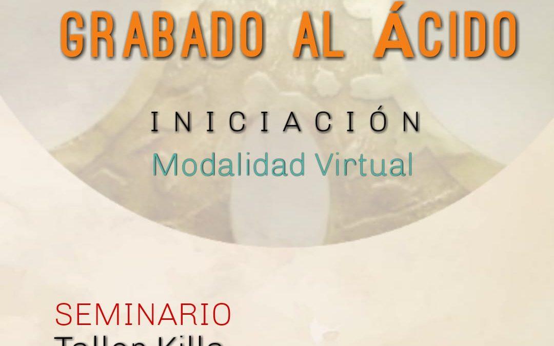 Seminario virtual de grabado al ácido, por Luna Ventura